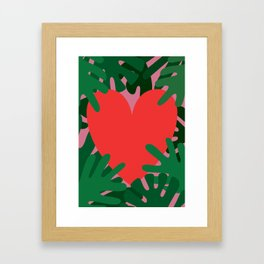 Wild Does My Love Grow Framed Art Print