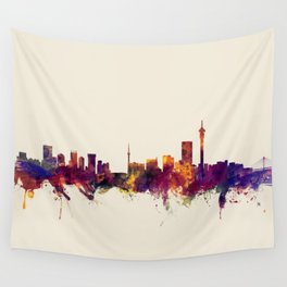 Johannesburg South Africa Skyline Wall Tapestry