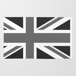 UK Flag, High Quality 1:2 Grayscale Rug