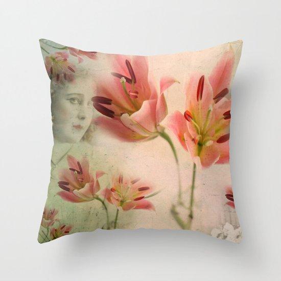 Throw Pillows Under 5 Dollars : Hidden under the flowers Throw Pillow by Victoria Herrera Society6
