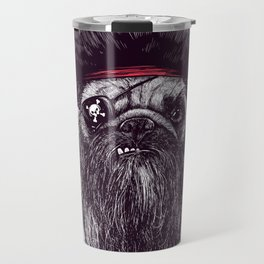 Capt. Blackbone the Pugrate Travel Mug