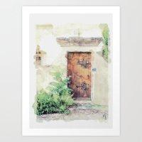 Door in Paris Art Print