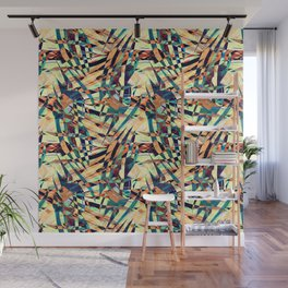 Wild Geometric Party Abstract Geo Pattern Wall Mural