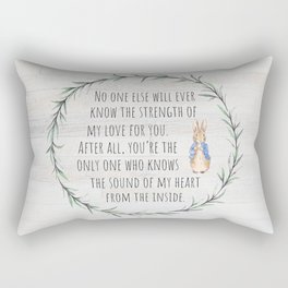 Moms Love w/Weathered wood background Rectangular Pillow