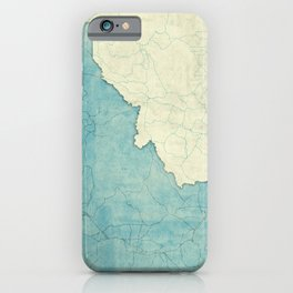 Idaho State Map Blue Vintage iPhone Case