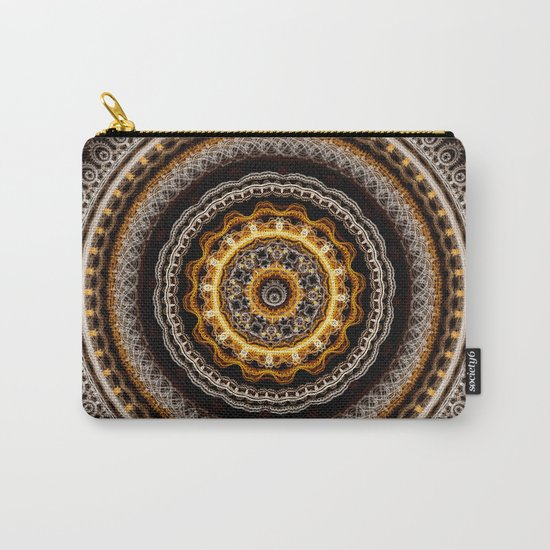 Mandala with tribal patterns Carry-All Pouch