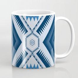 Blue Triangle Geometric Mountain Range Coffee Mug