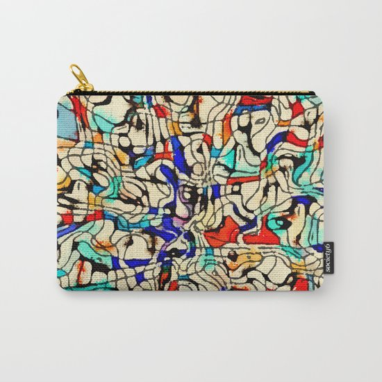 Abstract W Carry-All Pouch