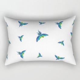 Blue parrots Rectangular Pillow