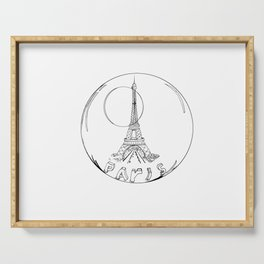 Paris in a Glass Ball Without a Shadow Serving Tray