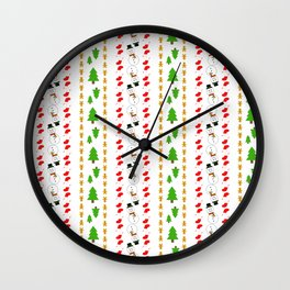 Christmas Decoration Stripes Wall Clock