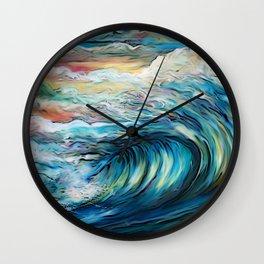 The Rainbow Wave Wall Clock