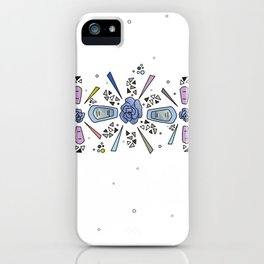 geometric flower crown iPhone Case