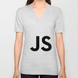 Javascript (JS) Unisex V-Neck