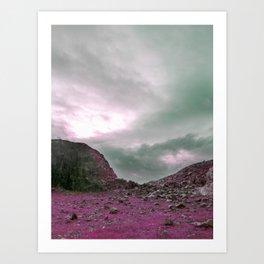 Pink Norway - Norwegian Lapponian Gate Art Print