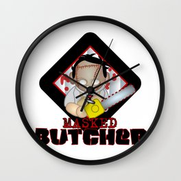 leather face Wall Clock