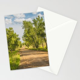 Summer Country Road, Fort Clark, North Dakota 1 Stationery Cards