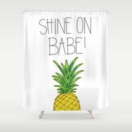 Pineapple Shine On Shower Curtain