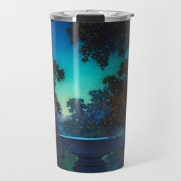 Blue Fountain at Twilight by Maxfield Parrish Travel Mug