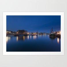 Night Docks Art Print