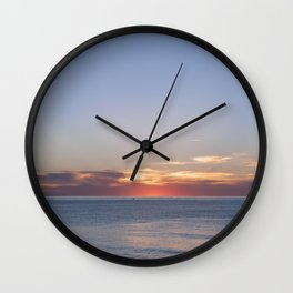 Sunset at Etretat, France Wall Clock
