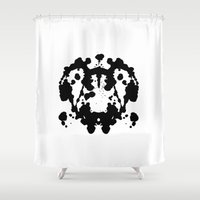 rorschach Shower Curtains featuring Rorschach by poindexterity