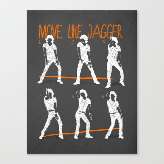 Move Like Jagger 2 Canvas Print