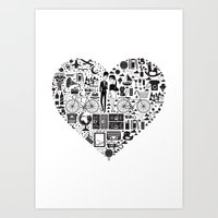 LIKES PATTERNS Art Print