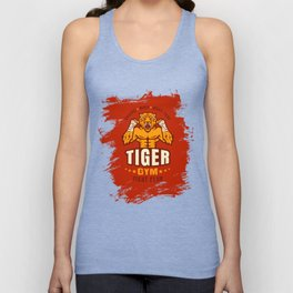 Angry tiger Unisex Tank Top