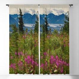 Alaskan Glacier & Fireweed Blackout Curtain