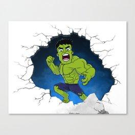Chibi Hulk Smash! Canvas Print