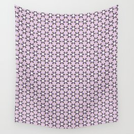 Pink, white and black geometric triangular pattern Wall Tapestry