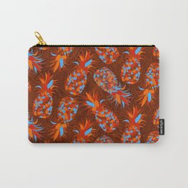 Orange Mosaic Pineapples Carry-All Pouch
