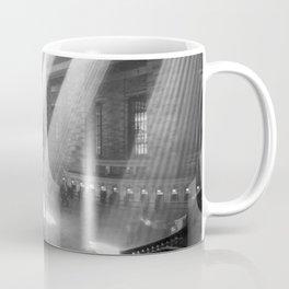 New York Grand Central Train Station Terminal Black and White Photography Print Coffee Mug