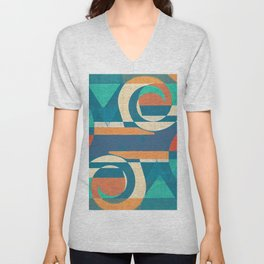 Mountains and Waves Unisex V-Neck