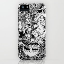 Taco Party at the Greek Sculpture House iPhone Case