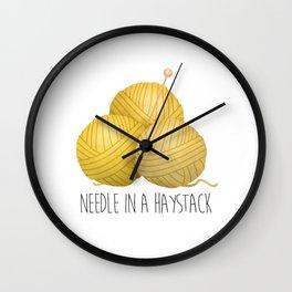 Needle In A Haystack Wall Clock