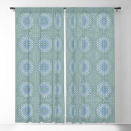 light blue butterfly kaleidoscope Blackout Curtain