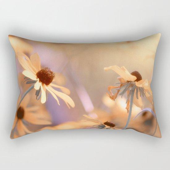 Suns star in the autumn garden Rectangular Pillow