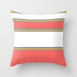 Minimal Abstract Lucite green, Coral, Grey, Honey, and White 02 Throw Pillow
