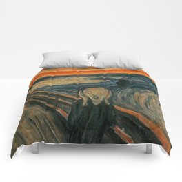 THE SCREAM - EDVARD MUNCH Comforters