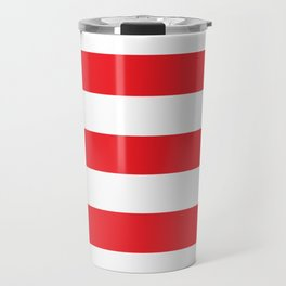 Wendy's Red (1975-2007) - solid color - white stripes pattern Travel Mug