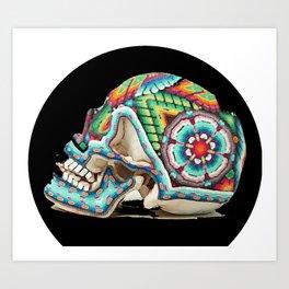 Calaca Colorido Art Print