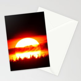 Sun in the Trees and Clouds Stationery Cards