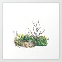 Stump (colored) Art Print