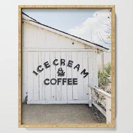 Ice Cream & Coffee Serving Tray