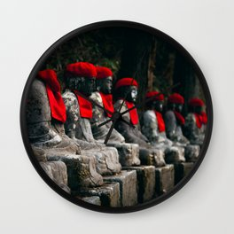 Nikko Jizo Statues Wall Clock