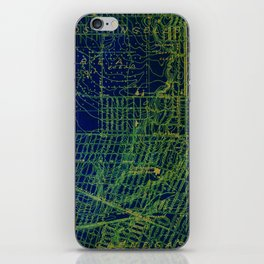 Holywood old map year 1924, usa old maps, american maps for home decoration iPhone Skin