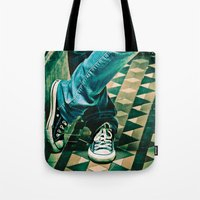 converse Tote Bags featuring Icon Converse by Sparrow House Photography