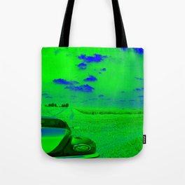 beETle deep in Field green & blue spoken Tote Bag